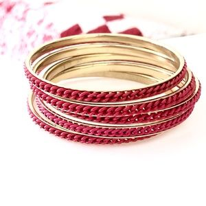"""""""COLOR THERAPY: POWER"""" Red Bracelet set NWT $110"""